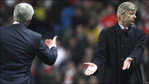 Mark Hughes and Arsene Wenger
