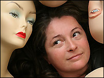 Roz Mita and her mannequins