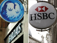 Barclays and HSBC signs