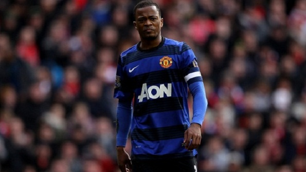 Patrice_Evra of Manchester_United after the Liverpol FA_Cup match
