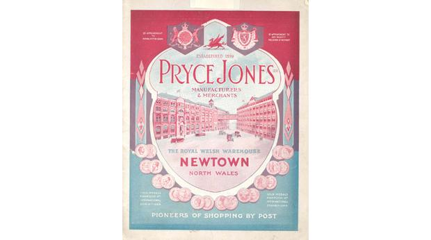 1933 catalogue from Pryce-Jones in Newtown. The first ever mail order company was started by Sir Pryce Jones in 1861.