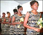 Chitenge wedding outfits