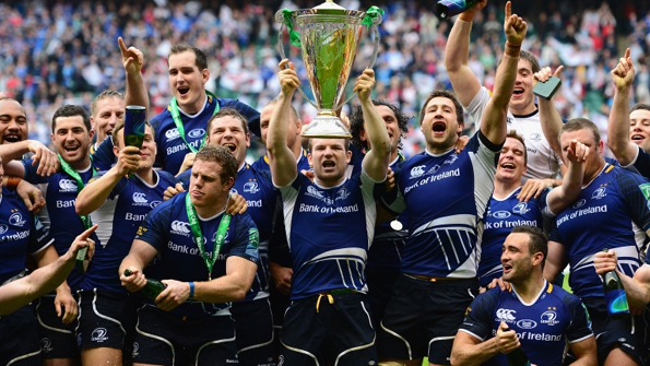 Leinster players celebrate winning their third Heineken Cup in four years (Getty images)