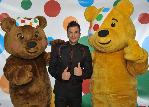 Peter Andre and Pudsey Bear