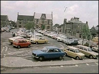 Cross Hayes market square in 1977