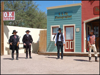 Re-enactment of the gunfight at the OK Corral