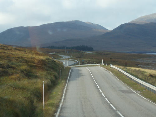 The road to Ullapool