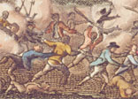 This French engraving depicts the slave uprising on St Domingue in 1791