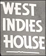 West Indies boarding house sign