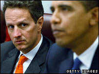 Timothy Geithner with Barack Obama