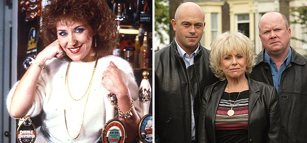 Angie Watts and Grant, Peggy and Phil Mitchell