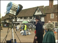 Filming Emma in Chilham