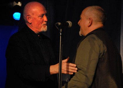 Danny Thompson and Peter Gabriel (not a mirror image!)