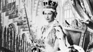 The Queen shortly after her coronation