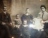 Frederick and Margaret Hall, and their four children