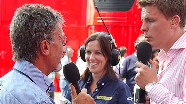 Eddie Jordan, Lee McKenzie and Jake Humphrey