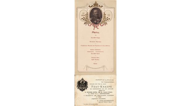 Kaiser Wilhelm II Invitation Card