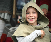 Child at battle re-enactment