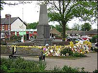 The war memorial in Rothley