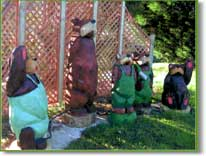 Landmark bears  welcome visitors