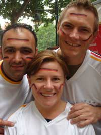 A group of German supporters