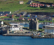 Aerial picture of Scalloway