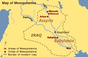 Mesopotamia On A Map BBC   History   Ancient History in depth: Mesopotamia