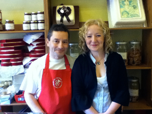 Photo of Emma and Mark in The Little Deli