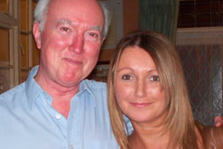 Peter with his daughter, Claudia Lawrence