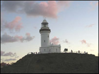 Lighthouse at Byron Bay in Australia