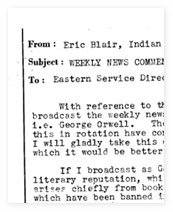 Memo from Orwell to the Eastern Service Director.