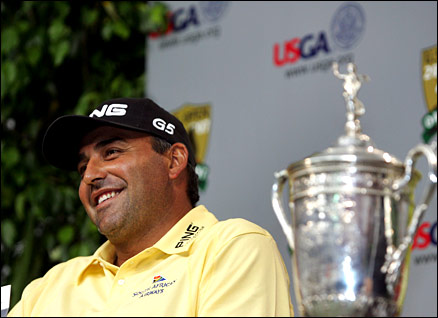 The US Open champion Angel Cabrera is hoping for more success in Scotland