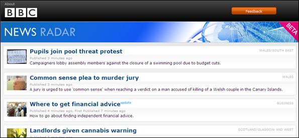 Screengrab news radar