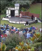 Open air theatre at Berkeley Castle