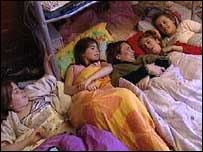 Chloe and friends at a sleepover