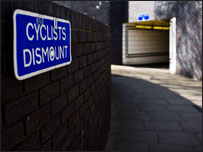 Cyclists Dismount image