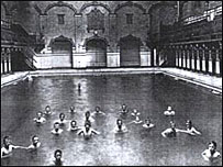 Swimmers in the pool of Victoria Baths