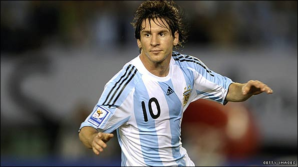 Lionel Messi is the central playmaker for Argentina