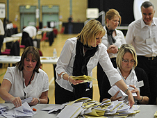Counting ballot papers