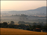Firle Beacon from Mount Caburn, East Sussex