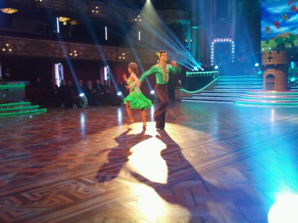 Chelsee and Pasha run through their jive