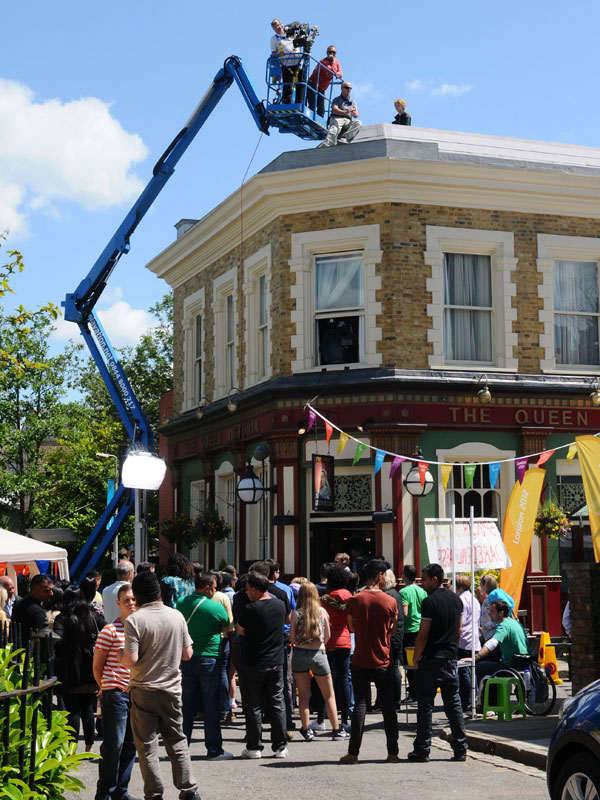 Bbc Eastenders Shirley S Flying High Behind The Scenes