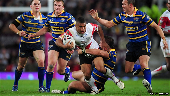 Kyle Eastmond in action for St Helens