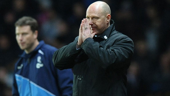 Steve Kean on the touchline during Tuesday's game with Bolton