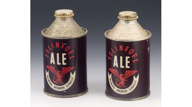 Starting in 1931, Felinfoel brewery started producing the first beer cans outside the USA
