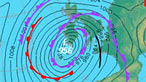 A Met Office weather chart showing isobars