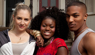 three main characters from EastEnders E20 programme