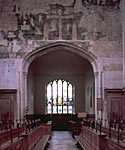 Stratford-upon-Avon's Guild Chapel. Catholic murals and vestments were removed from the chapel, some wall paintings were covered with a layer of limewash