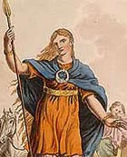 Imagined portrait of Boudicca