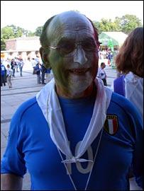Soccer-national Teams Initiative Italy 2008 Campioni Del Mondo Mens Blue World Cup Soccer Shirt Size Large Fan Apparel & Souvenirs